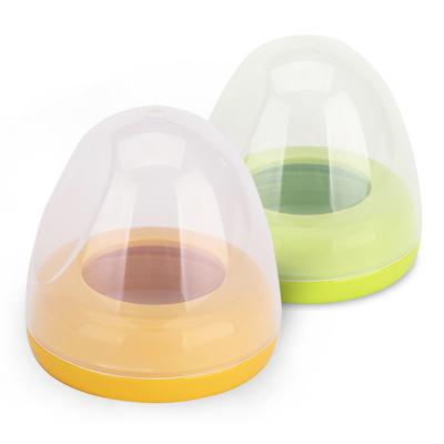 适配 贝亲(PIGEON)宽口径奶瓶配件 PP盖帽组合 黄色+绿色 旋转瓶盖奶瓶帽盖