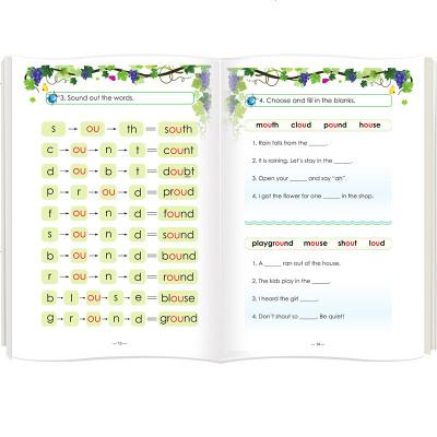 1205自然拼读 Phonics教材英语提高篇上下全2册少儿英语自然拼读法幼儿园英语启蒙幼儿英语启蒙教材儿童英语启蒙
