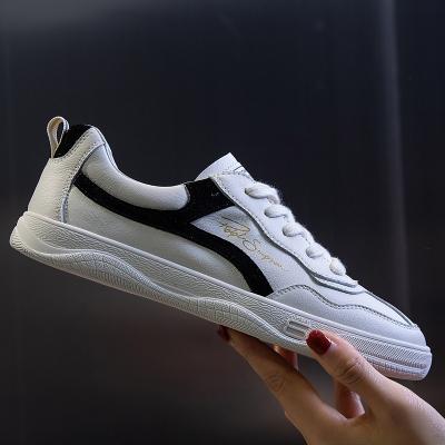 策霸春季女网红同款浅口女鞋潮2020新款休闲单鞋女平底百搭牛皮小白鞋