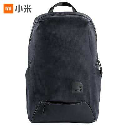 小米(MI)休閑運動雙肩包 旅行防水男女通用書包雙肩背包 可搭配90分旅行箱使用 黑色