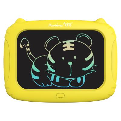 好写(howshow)10英寸儿童涂鸦绘画板 学生文具草稿板 儿童益智写字板 玩具画画板 猫咪款 H10S 黄色