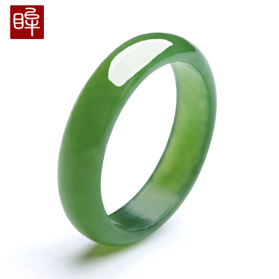 印象眸 和田玉戒指 男女款碧玉白玉戒指私人訂制需提供內徑 附送證書