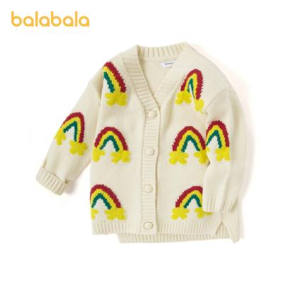 巴拉巴拉寶寶毛衣女童針織衫開衫2020新款兒童上衣秋裝童裝洋氣潮