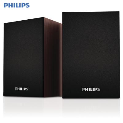 飛利浦(PHILIPS) SPA20電腦音箱迷你小音響臺式低音炮 木質音箱USB多媒體筆記本音響