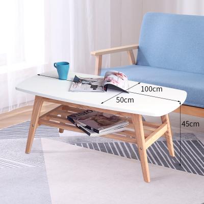 邁菲詩北歐家用客廳陽臺小戶型現代簡約小茶幾雙層木質經濟型迷你茶桌子