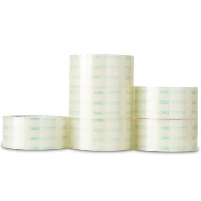 【单卷】得力(deli)胶带30205封箱胶带透明胶带打包胶带纸4.8cm宽胶带批发