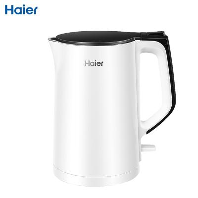 海尔(Haier)电水壶K1-C01W 电热水壶304不锈钢水壶双层防烫一体无缝开水壶烧水壶