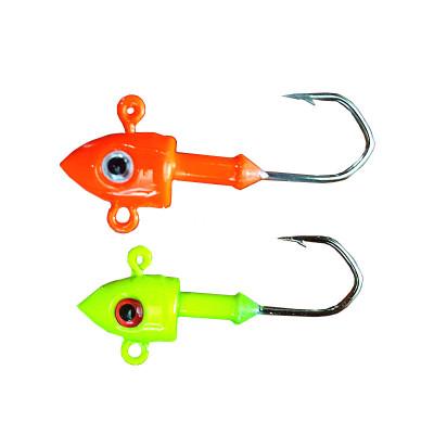 防掛底鉛頭鉤路亞軟蟲魚鉤魚型平底朝天鉤倒刺高強度7 10 14克軟餌配重
