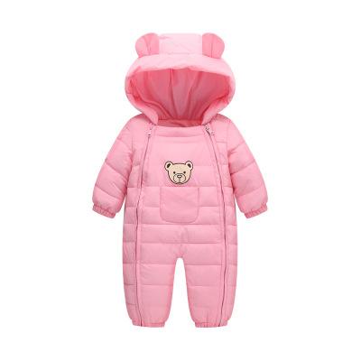 反季婴儿连体衣秋冬加厚儿外出抱衣男女宝宝羽绒棉衣保暖套装
