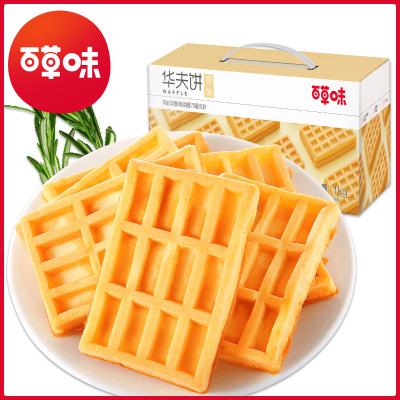 百草味 西式糕點 華夫餅1kg 營養早餐蛋糕手撕面包網紅休閑零食整箱