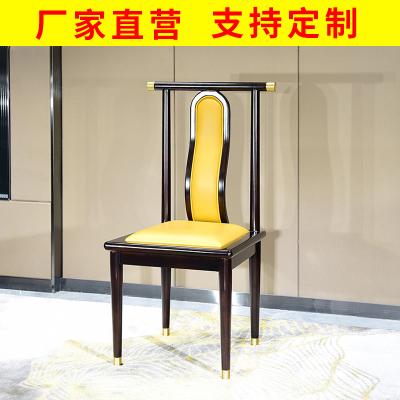 邁菲詩新中式實木餐椅家用餐廳簡約單人靠背椅子禪意現代中式餐椅