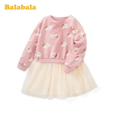 巴拉巴拉童装女童连衣裙春季2020新款小童宝宝洋气裙子儿童公主裙