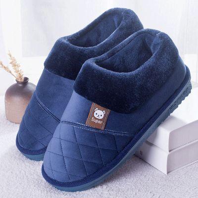 全包跟男士棉拖鞋加厚底特大碼冬季居家居女室內保暖防滑冬天棉鞋 TCVV