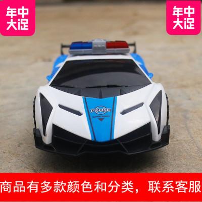 儿童电动玩具车男孩有音乐会发光跳舞的警车幼儿360度旋转万向车