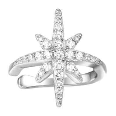 APM MONACO 女士 单只S925纯银海星镶晶钻流星耳骨夹耳钉首饰 AE9999OX