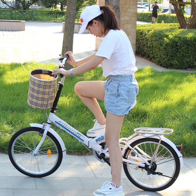 折疊自行車20寸成人上班變速減震閃電客便攜男女式兒童學生單車