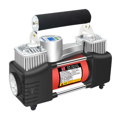 巨木 車載充氣泵 金屬雙30缸 預設胎壓數顯 汽車輪胎用 12v便攜式電動打氣泵
