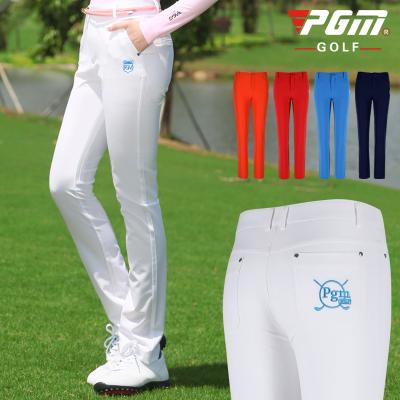 高爾夫褲子 女士運動長褲 高爾夫修身球褲