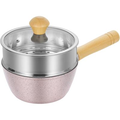 炊大皇宝宝婴儿辅食锅热奶锅泡面煮奶小锅铝合金不粘电磁炉通用奶锅