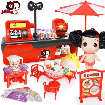 女孩男孩玩具冬己兒童過家家甜品屋仿真場景玩具益智玩具FDE328(470*300*140)塑料,3歲以上