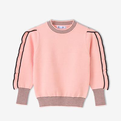鉛筆俱樂部童裝2020春秋季女童長袖毛衣中大童圓領毛衫兒童毛衣