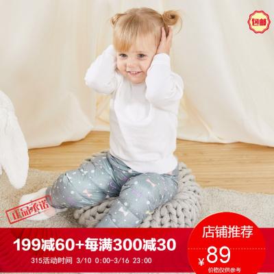 波司登童裝新款男女童保暖百搭純色中小童羽絨褲T80130006