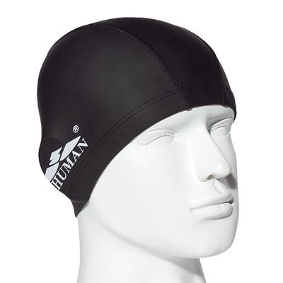 舒漫游泳帽成人PU帽 PU涂層男女通用游泳裝備泳帽 防水護耳 粉色