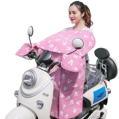 電動摩托車擋風被夏季防曬罩遮陽薄款電瓶防水防風前防雨電車夏天雨棚