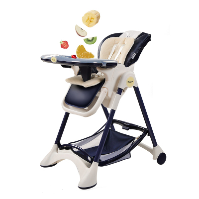 Pouch帛琦 儿童餐椅K05时尚豪华多功能可平躺可折叠0-3岁宝宝椅人性化多档位单手调节婴儿餐椅