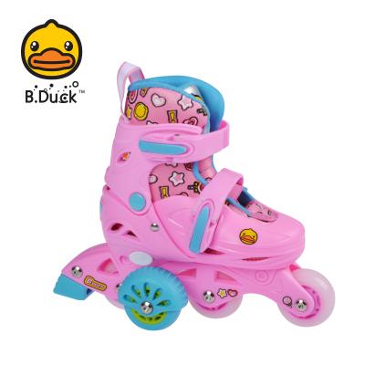 B.DUCK小黄鸭儿童轮滑鞋套装 儿童礼物