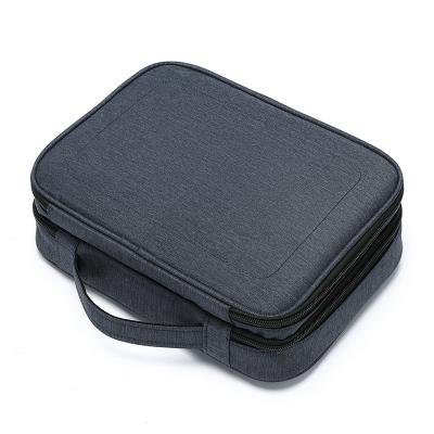第九城(V.NINE)数据线收纳包大容量多功能充电线移动电源收纳袋旅行便携ipad数码配件整理包