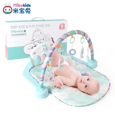 米寶兔腳踏鋼琴健身架器寶寶嬰兒玩具0-1歲3-6個月兒童音樂游戲毯