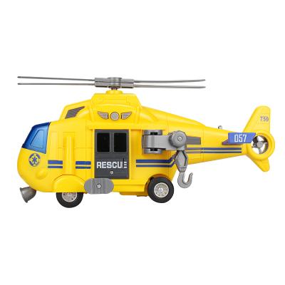 小猪巴比儿童玩具车男孩女孩仿真音乐故事惯性直升机