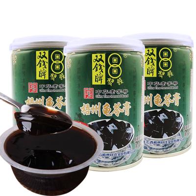 雙錢牌 龜苓膏 原味 /紅豆味 250g*3罐裝隨機混合味 易拉罐涼粉果凍批零食