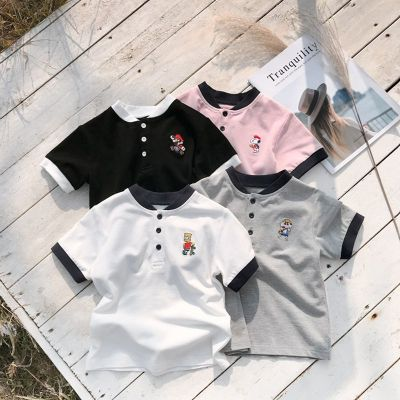童裝男童短袖T恤2020新款兒童寶寶棉POLO衫中大童夏裝韓版潮威珺