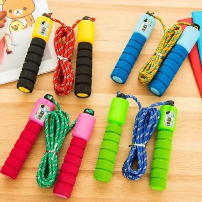 【2条装】专业计数跳绳 运动健身成人儿童海绵柄学生中考专用跳绳朗原运动