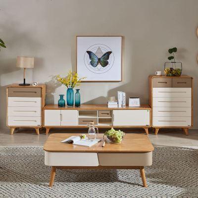 梦引 北欧现代简约大小户型茶几电视柜组合客厅储物带抽屉成套家具