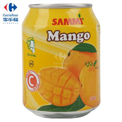 【家乐福】三蜜芒果味饮料238ml