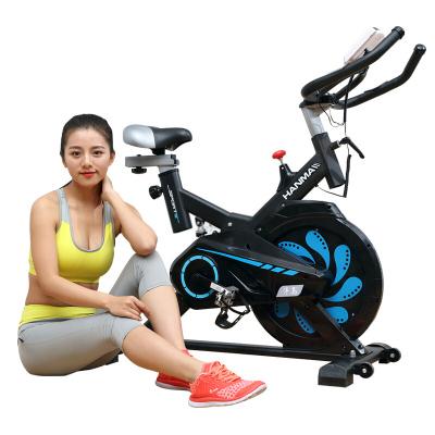 汗马动感单车 超静音家用室内智能健身车 健身器材减肥脚踏运动自行车飞轮全包带减震弹簧
