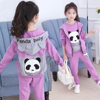 童趣熊PLAYFUL BEAR 童裝女童秋裝三件套2020新款春秋季小女孩長袖衣服韓版運動套裝