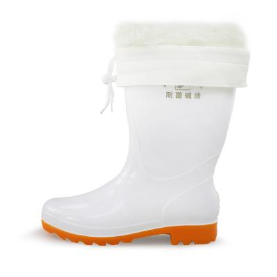 雙星食品衛生靴雨靴白色廚房專用橡膠防水 防酸堿油中筒雨鞋四季通用DSA103