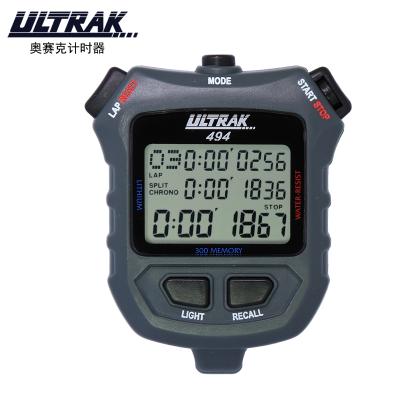 奧賽克ULTRAK秒表DT494計時器 三排300道夜光 倒計時節拍器多功能防水耐用比賽裁判教練田徑運動健身游泳跑步騎行