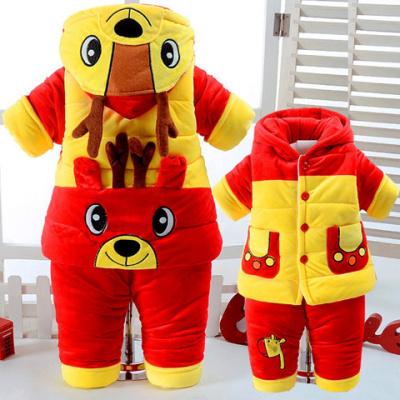 【童裝加厚套裝】男女童寶寶秋冬套裝0-1-2歲半加厚棉衣冬季套裝