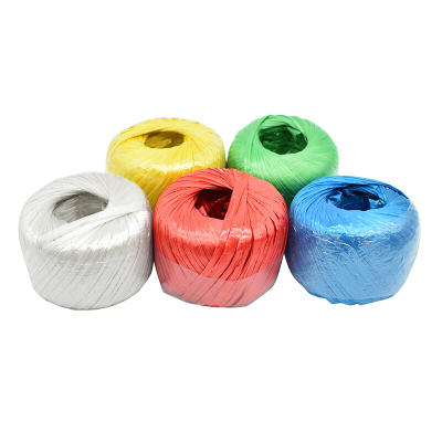 賽拓(SANTO)草球繩 塑料繩捆扎繩 打包捆綁繩 標準150g 長約120米 混色5個裝1984