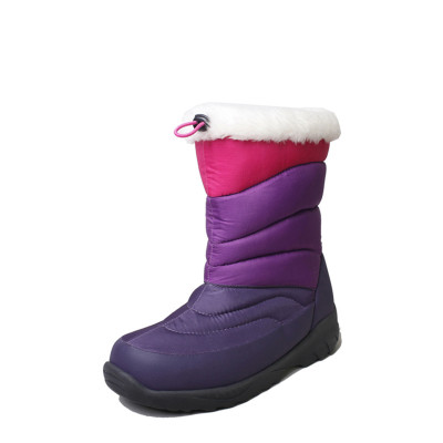 TNTN戶外冬季羽絨中高筒3M新雪麗暖絨加絨厚底防水兒童厚雪鄉女鞋雪地棉靴子