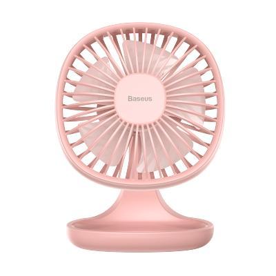 倍思迷你usb電風扇辦公室家用學生宿舍桌面手持便攜收納小型靜音無聲充電臺式小風扇三檔調速5片扇葉大風力粉色