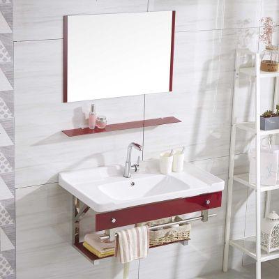 鋼化玻璃盆掛墻式陶瓷洗手洗臉盆浴室臺盆衛生間洗漱臺盆簡約浴柜