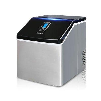沃拓萊商用25kg/24h奶茶店方冰制冰機 自動進水小型桌面商用制冰機 家用小型迷你制冰機 2019年新款冰塊制作