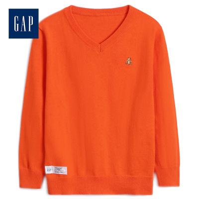 Gap男嬰幼童V領套頭毛衣秋冬474540 柔軟舒適保暖針織衫