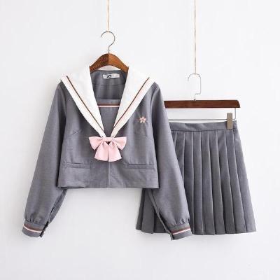 水手服日系学生学院风上衣JK制服韩版校服长袖套装 臻依缘